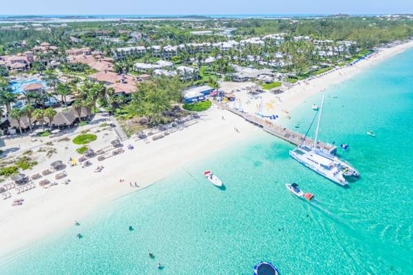 aerial view of Beaches Resort in the Turks and Caicos