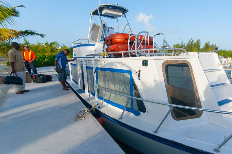 the Providenciales to North Caicos passenger ferry at Sandy Point