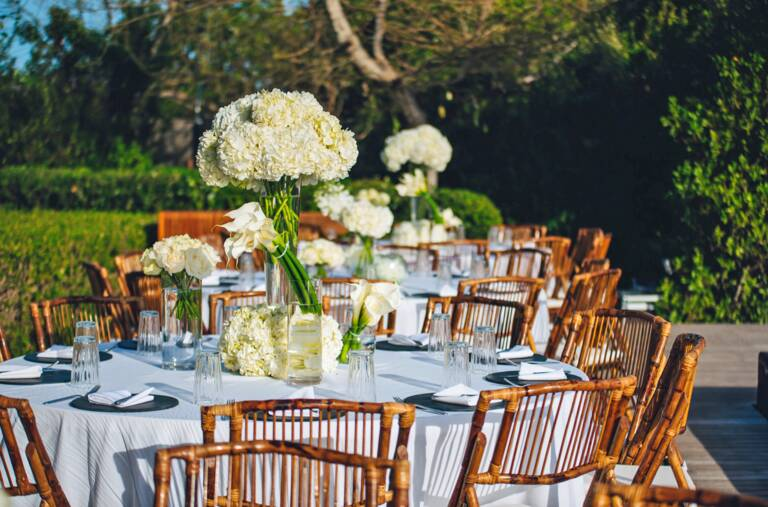 wedding floral settings