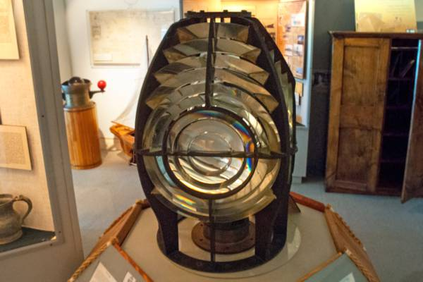 the old Fresnel focusing lens in the National Museum from the Grand Turk Lighthouse