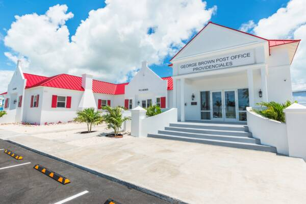 the George Brown Post Office on Providenciales