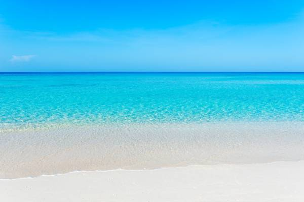 the beautiful Governor's Beach in the Turks and Caicos