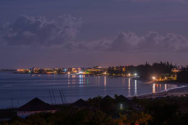 Grace Bay and the Bight at night