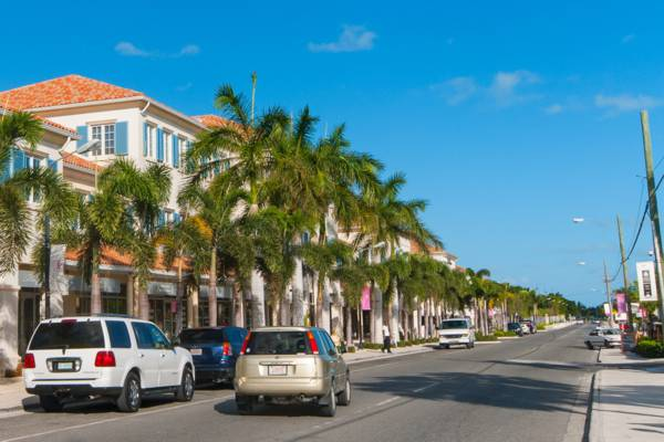 Grace Bay Road in the central tourism district of Providenciales