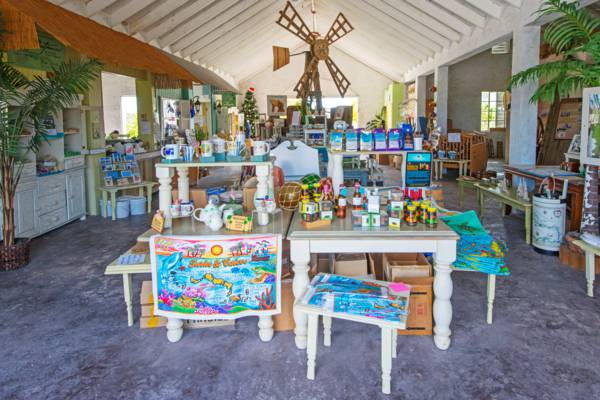 the interior of the Salt House gift shop on Grand Turk