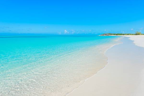 the perfect Half Moon Bay Beach in the Turks and Caicos