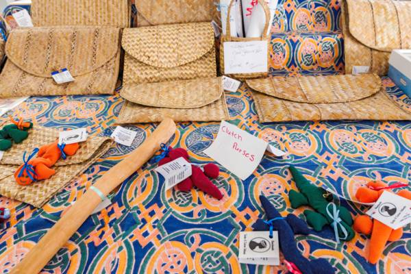 woven bags and handmade gifts at the Middle Caicos Co-op