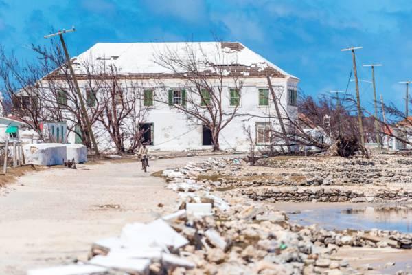 the Harriett White House after Hurricane Irma in 2017