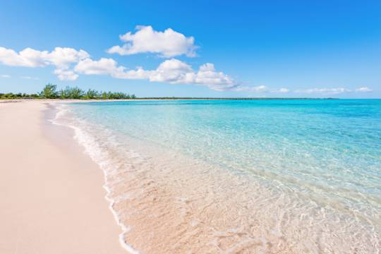 the secluded beach at Haulover Point on Middle Caicos