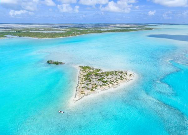 heart island in Turks and Caicos