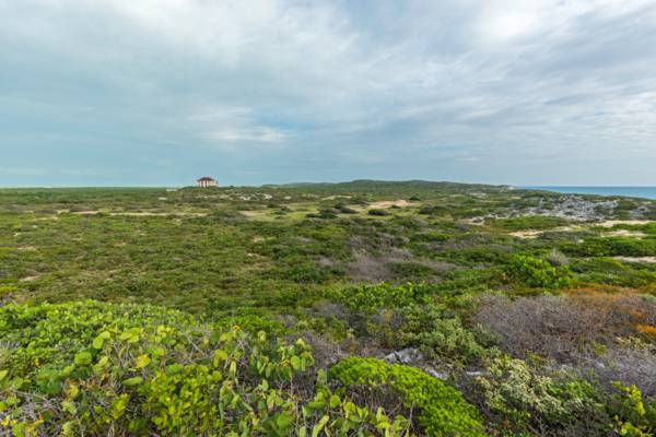 panoramic view of the Highlands and Highlands House on South Caicos.