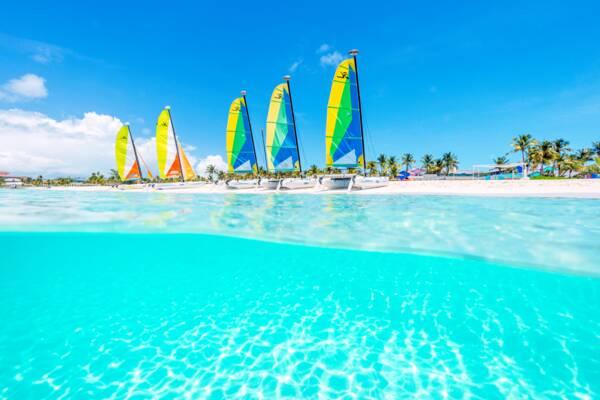 sailboats at Grace Bay Beach