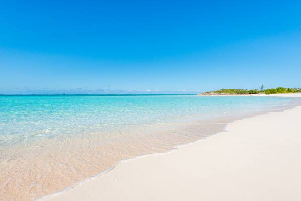 the beautiful  Hollywood Beach on North Caicos