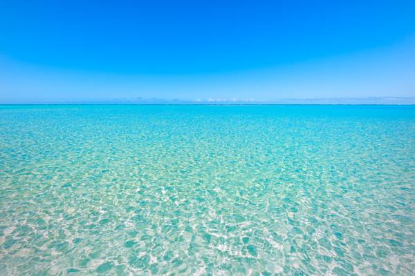 sparkling turquoise ocean water off Horsestable Beach on North Caicos