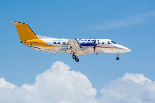 interCaribbean Embraer 120 Brasilia flying over Providenciales