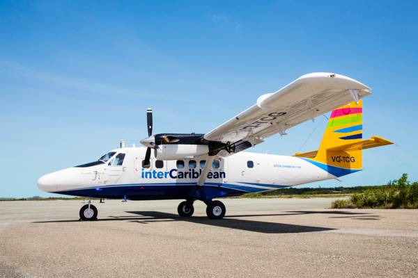 interCaribbean Twin Otter aircraft at the Providenciales International Airport