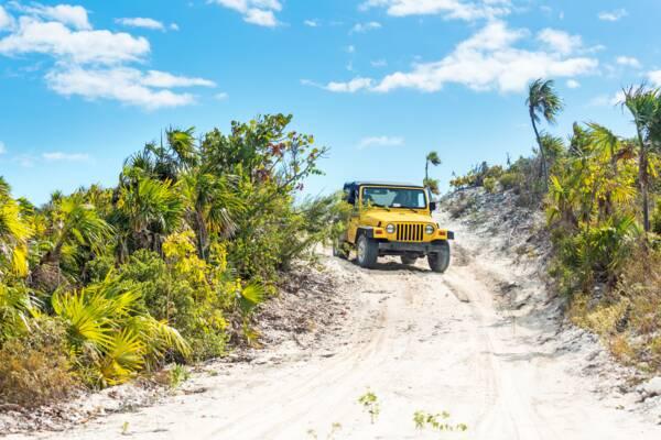 rental Jeep Wrangler at South Caicos