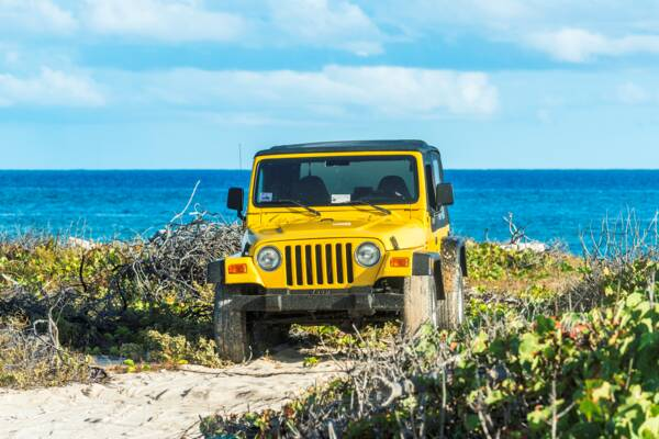 Jeep Wrangler at South Caicos