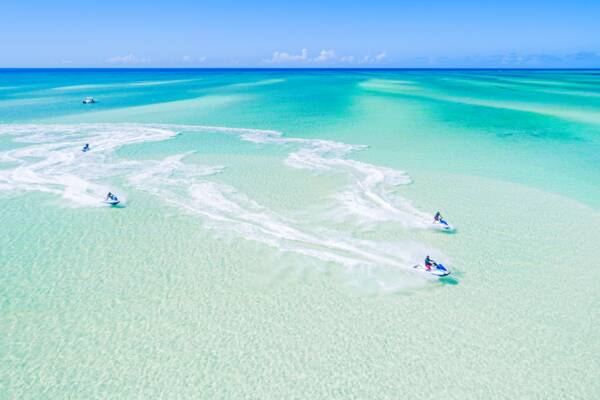 jet skis at Sandy Point near North Caicos