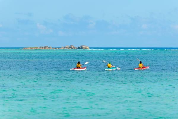 three kayaks off of East Bay Beach