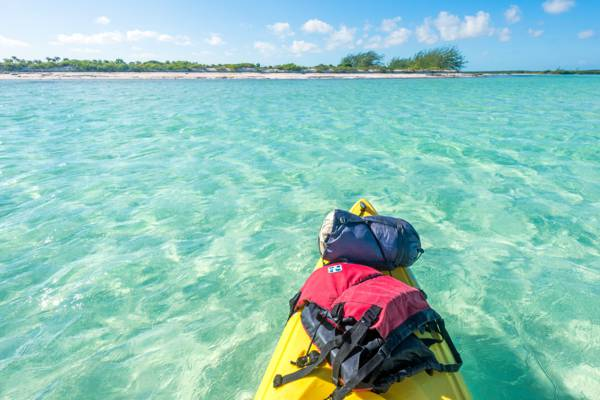 kayak off of Well Cay in the East Bay Islands National Park
