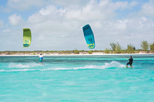kiteboarding at South Caicos