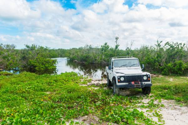 Land Rover Defender in the Turks and Caicos
