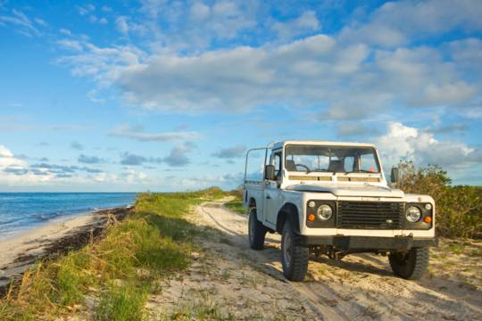 Land Rover Defender 110 High Capacity Pickup in the Turks and Caicos