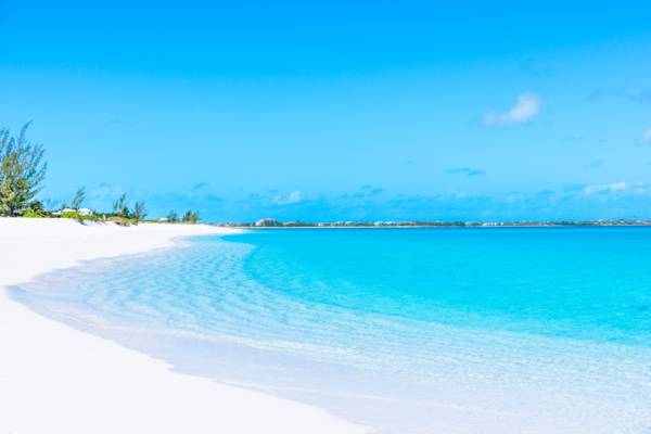 calm and turquoise water at Leeward Beach in the Turks and Caicos