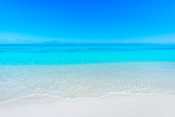 blue and turquoise at Leeward Beach on Providenciales in the Turks and Caicos