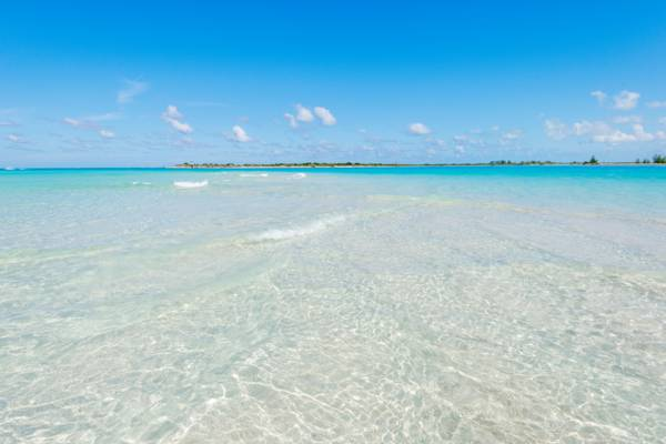 the ocean at Leeward Going Through Point and Little Water Cay