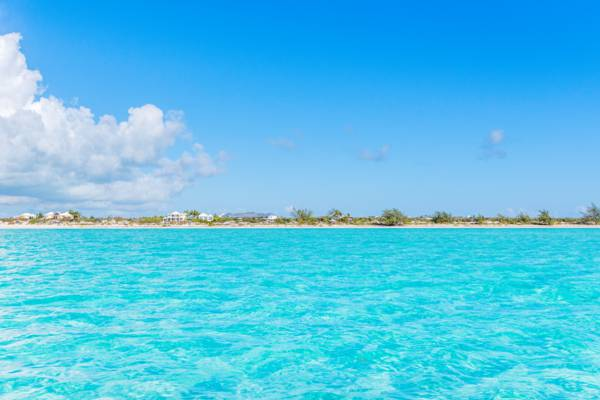 incredible turquoise water at Long Bay Beach on Providenciales