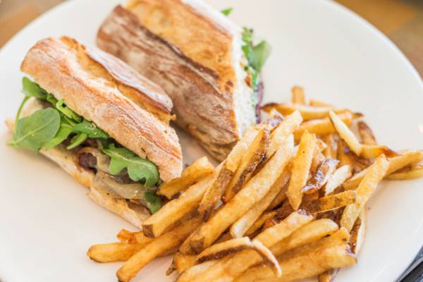 sandwich at Provence Restaurant in Grace Bay
