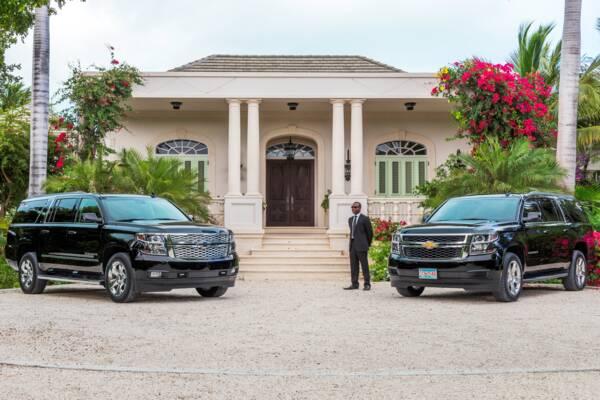 private car service at a luxury villa at Long Bay