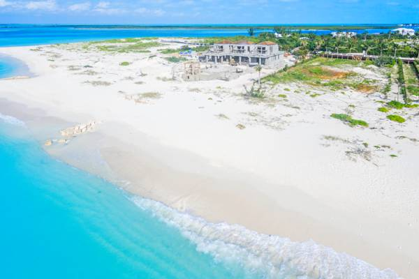 beachfront villa construction in Turks and Caicos