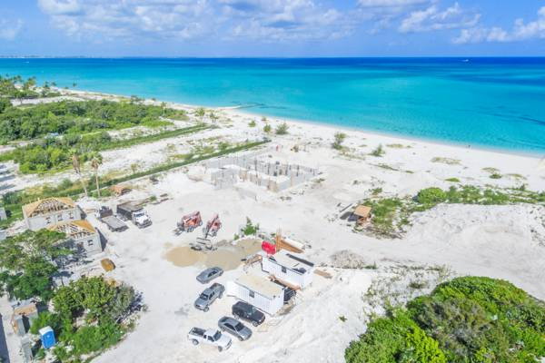 aerial view of construction site in Leeward on Providenciales