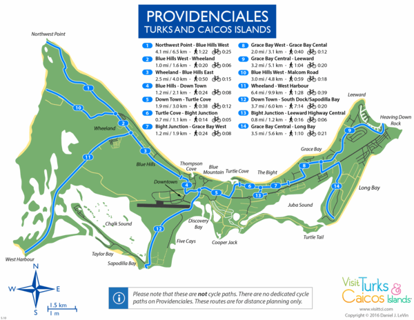 Cycle map for Providenciales