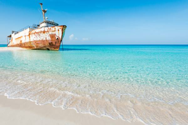 the beautiful Governor's Beach and the Mega One Triton shipwreck in the Turks and Caicos
