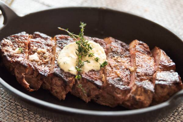 New York strip steak in Turks and Caicos
