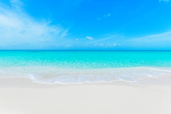 white sand and turquoise water at North Bay