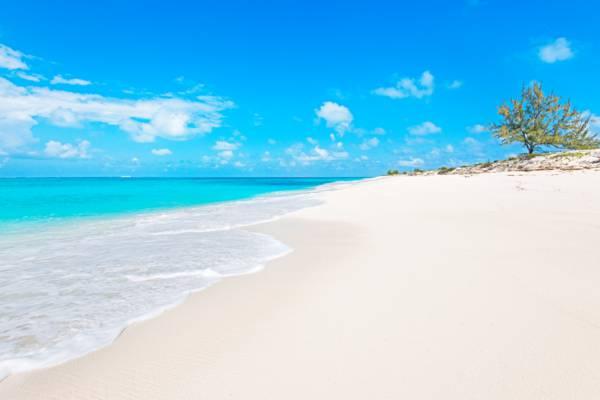 the perfect beach at Atlantic Ocean at North Bay on Salt Cay