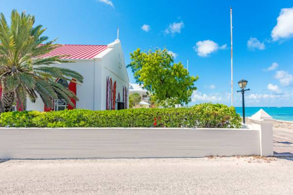 the colonial beachfront St. Mary's Anglican Church in Cockburn Town on Grand Turk