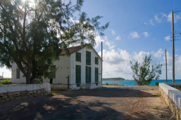 Victorian-era sea salt warehouse at Cockburn Harbour on South Caicos