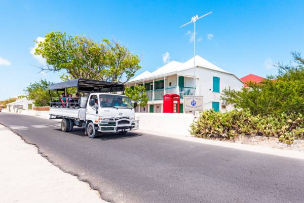 open air tour excursion truck at the Turks and Caicos National Museum on Grand Turk