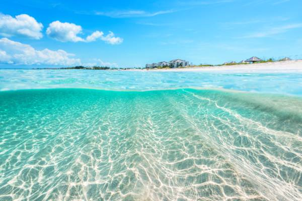 clear water at the Bight Beach in the Turks and Caicos