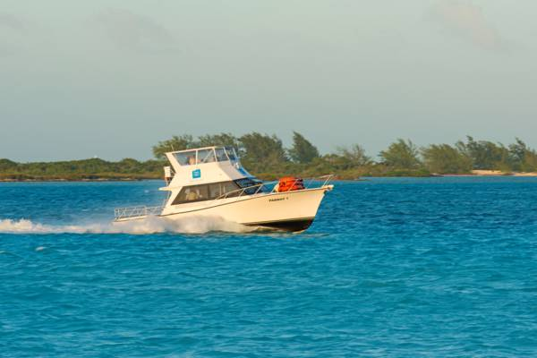 the Parrot Cay Resort guest ferry boat off of Providenciales