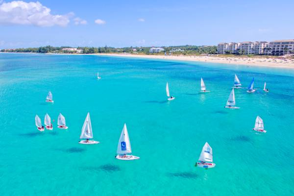 Pico sailboats at the Bight Beach on Providenciales