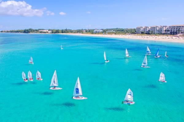 Pico sailboats at the Bight Beach on Providenciales