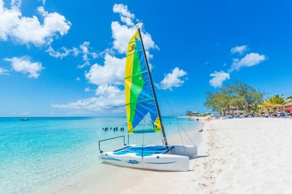 Hobie Cat Sailboat on the beautiful Pillory Beach on Grand Turk