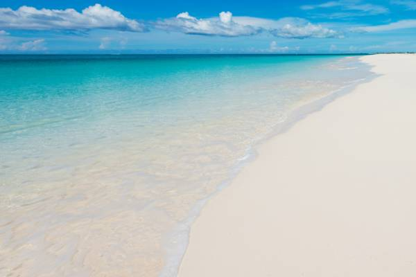 calm weather conditions at Grace Bay Beach in the Turks and Caicos